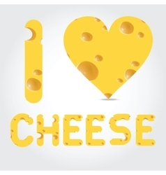 with cheese vector image vector image
