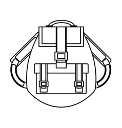 camping backpack isolated vector image vector image