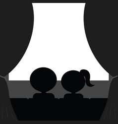 couple in cinema vector image vector image