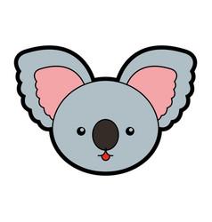 Cute koala face cartoon vector