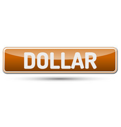 Dollar - abstract beautiful button with text vector