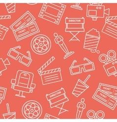 Line Cinema Pattern vector image