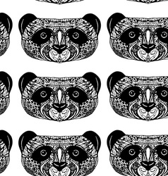 Panda on white background hand-drawing head vector image