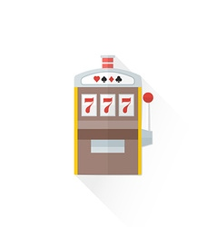color playing slot machine icon vector image