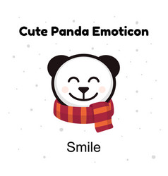 cute head baby panda bear smiles on a white vector image vector image