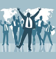 dancing business people vector image vector image