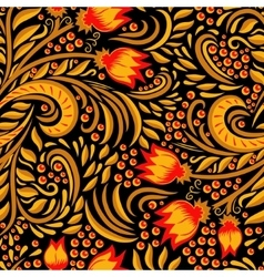 Khokhloma decorated seamless texture vector image vector image