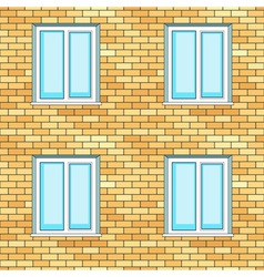 Windows on wall vector image vector image