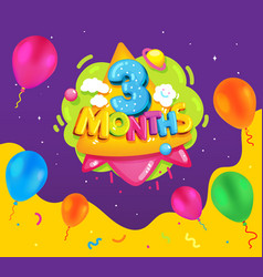 3 months baby vector image