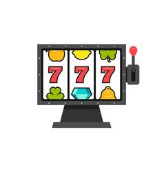 777 slot machine vector image