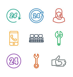 9 support icons vector