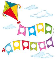 A kite on sky vector
