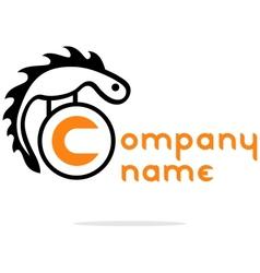 Abstract reptile logo vector image