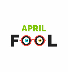 april fools day lettering typography on whtie vector image
