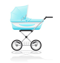 Baby perambulator 02 vector