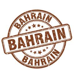 Bahrain brown grunge round vintage rubber stamp vector