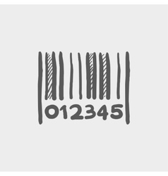 Barcode sketch icon vector image