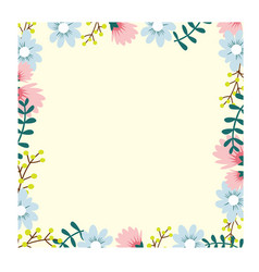 beautiful flower frame vector image