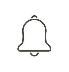 bell icon line alarm symbol vector image