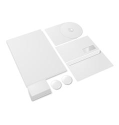 Blank stationery set vector image
