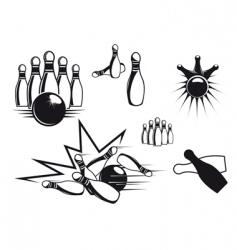Bowling symbols vector