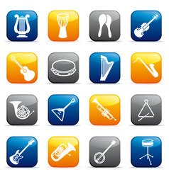 buttons of musical instruments vector image