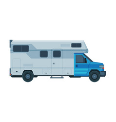camper mobile home mobile home for summer trip vector image