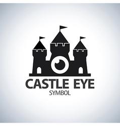 Castle eye symbol icon vector