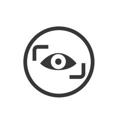 Cctv eye security system insurace icon vector