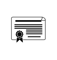 certificate document money business financial line vector image