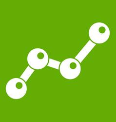 chart statistics line icon green vector image