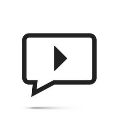 chat video frame flat icon vector image
