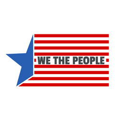 constitution day we usa people logo icon flat vector image