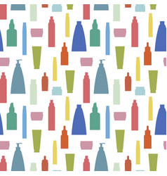Cosmetics bottle pattern vector