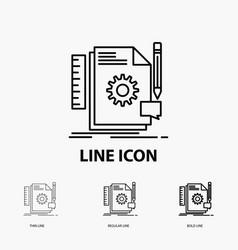 creative design develop feedback support icon in vector image