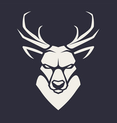 deer mascot icon vector image