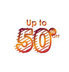 Discount up to 50 off label sale line gradient vector