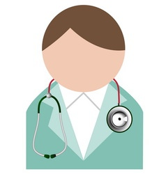 Doctor with stethoscope Buddy icon vector