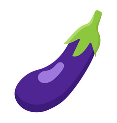 Eggplant flat icon vegetable and diet vector