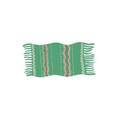 Egyptian prayer rug minimalistic hand drawing vector