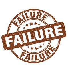 failure brown grunge stamp vector image