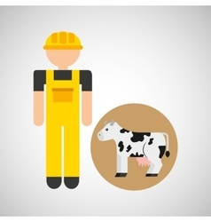 farm countryside farmer people design vector image