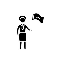 female target black icon sign on isolated vector image