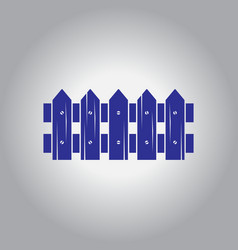 Fence icon vector