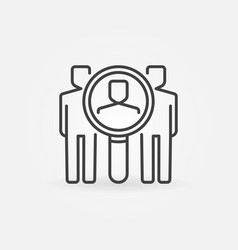 Find people icon vector