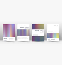 Flyer layout minimalistic exquisite template for vector