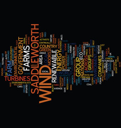 for or against wind farms text background word vector image