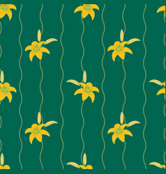 gentle flower seamless pattern with lilies vector image
