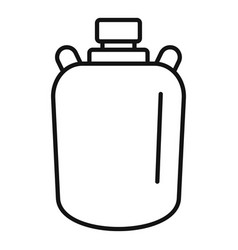 Gold water flask icon outline style vector