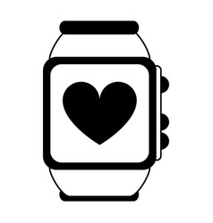 heart rate wrist monitor icon image vector image